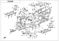 Rám/kostra - Gladiator X625-A Euro4 (2020)
