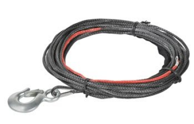 Synthetic rope with hook, 5.5mm (7/32)X15.2 (50´)