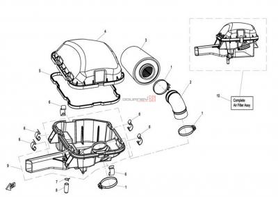 NÁHRADNÉ DIELY CF MOTO X8 - Vzduchový filter