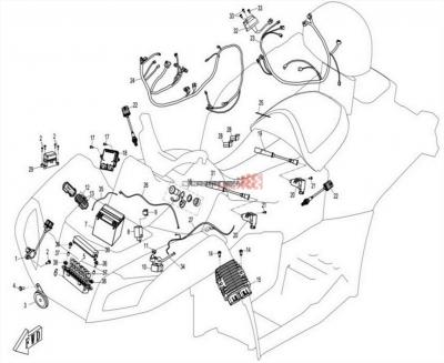 NÁHRADNÉ DIELY CF MOTO X8 - Elektrický systém