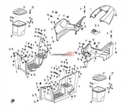 NÁHRADNÉ DIELY CF MOTO X8 - Stredné plasty