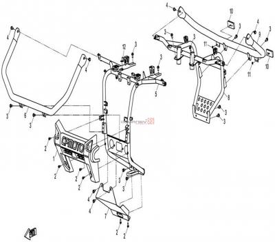 NÁHRADNÉ DIELY CF MOTO X8 - Predný a zadný nárazník