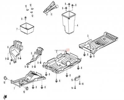 NÁHRADNÉ DIELY CF MOTO X8 - Spodné plasty