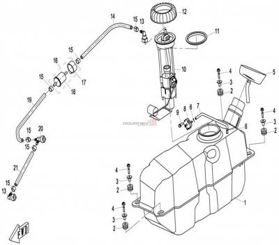NÁHRADNÉ DIELY CF MOTO X8 - Palivová nádrž (plast)