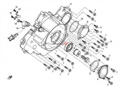 NÁHRADNÉ DIELY CF MOTO X8 - Ľavý kryt bloku motora