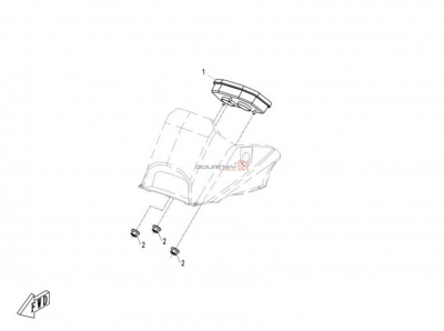 NÁHRADNÉ DIELY CF MOTO X8 - Prístrojová doska