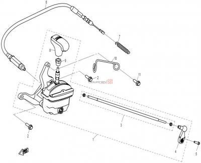 NÁHRADNÉ DIELY CF MOTO X8 - Radiaca páka