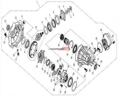 NÁHRADNÉ DIELY CF MOTO X8 - Predný diferenciál