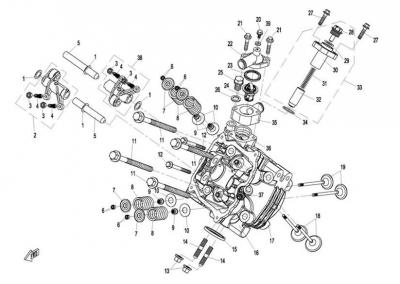 NÁHRADNÉ DIELY CF MOTO X8 - Hlava 1 valca