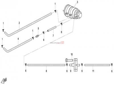 NÁHRADNÉ DIELY CF MOTO X8 - Palivový odparovač