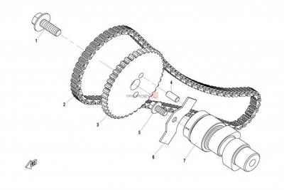 NÁHRADNÉ DIELY CF MOTO X8 - Vačková hriadeľ 1 valca