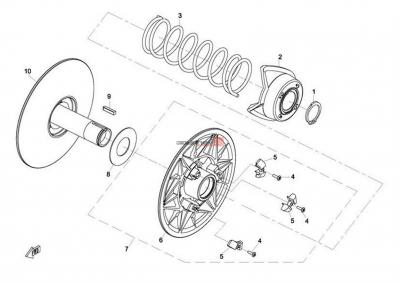 NÁHRADNÉ DIELY CF MOTO X8 - Sekundárna remenica
