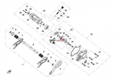 NÁHRADNÉ DIELY CF MOTO X8 - Prevody ozubenia 3
