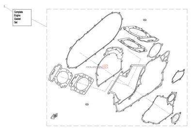 NÁHRADNÉ DIELY CF MOTO X8 - Motorové tesnenie
