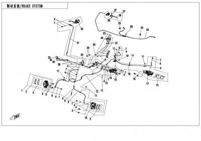 NÁHRADNÉ DIELY CF MOTO X850 - Brzdový systém L, H, Parking