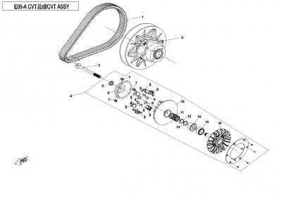 NÁHRADNÉ DIELY CF MOTO X850 - Variátor (obmedzená rýchlosť)