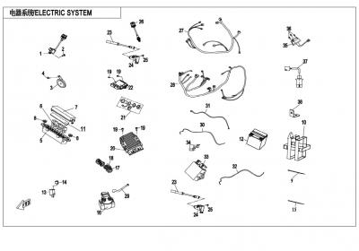 NÁHRADNÉ DIELY CF MOTO X850 - Elektrický systém (bez EPS)