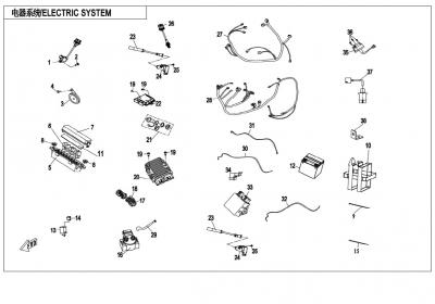 NÁHRADNÉ DIELY CF MOTO X850 - Elektrický systém (s EPS)