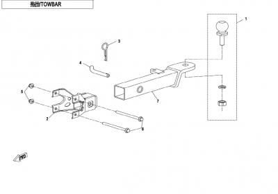 NÁHRADNÉ DIELY CF MOTO X850 - Ťažné zariadenie