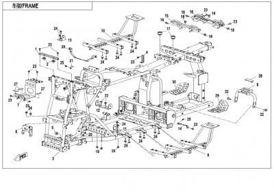 NÁHRADNÉ DIELY CF MOTO X850 - Hlavný rám 1