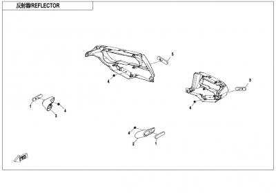 NÁHRADNÉ DIELY CF MOTO X850 - Plasty (svetlá)