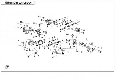 NÁHRADNÉ DIELY CF MOTO X850 - Predné odpruženie