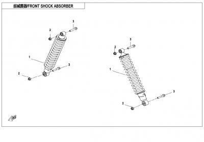 NÁHRADNÉ DIELY CF MOTO X850 - Predné tlmiče (olej)