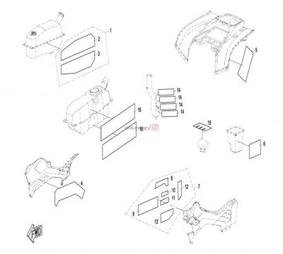 NÁHRADNÉ DIELY CF MOTO X8 - Tepelná izolácia plastov
