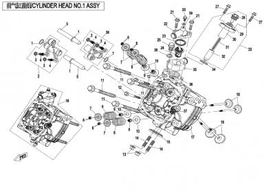 NÁHRADNÉ DIELY CF MOTO X850 - Hlava valca 1 I