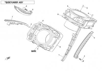 NÁHRADNÉ DIELY CF MOTO X850 - Telo valca