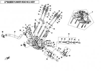 NÁHRADNÉ DIELY CF MOTO X850 - Hlava valca 2 III