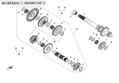 NÁHRADNÉ DIELY CF MOTO X850 - Radenie I