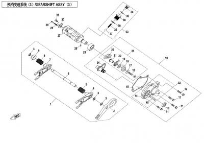NÁHRADNÉ DIELY CF MOTO X850 - Radenie III