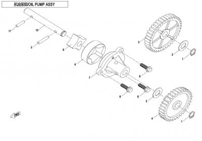 NÁHRADNÉ DIELY CF MOTO X850 - Olejové čerpadlo