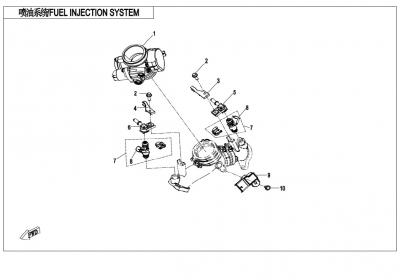NÁHRADNÉ DIELY CF MOTO X850 - Vstrekovanie