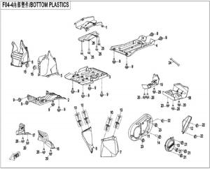 NÁHRADNÉ DIELY CF MOTO X520 - Spodné plasty (krátka verzia)