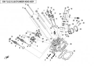 NÁHRADNÉ DIELY CF MOTO X520 - Hlava valca