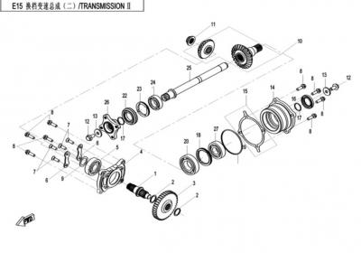 NÁHRADNÉ DIELY CF MOTO X520 - Prevody II