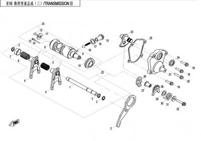 NÁHRADNÉ DIELY CF MOTO X520 - Prevody III