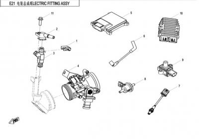 NÁHRADNÉ DIELY CF MOTO X520 - Elektrický systém motora