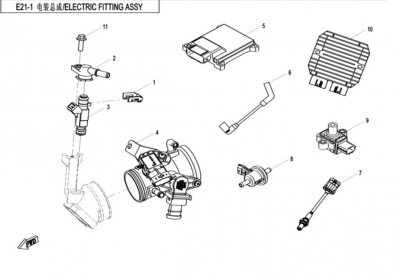 NÁHRADNÉ DIELY CF MOTO X520 - Elektrický systém motora s EPS