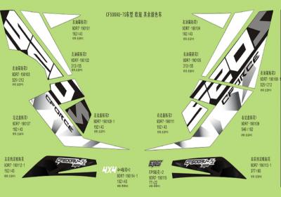 NÁHRADNÉ DIELY CF MOTO X520 - Logo samolepky II