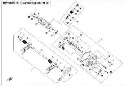 NÁHRADNÉ DIELY CF MOTO X1000 - Prevodovka - radenie