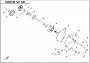 NÁHRADNÉ DIELY CF MOTO X1000 - Vodná pumpa
