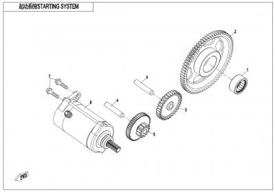 NÁHRADNÉ DIELY CF MOTO X1000 - Štartovací systém