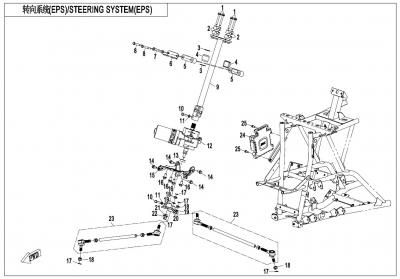 NÁHRADNÉ DIELY CF MOTO X1000 - Systém riadenia EPS
