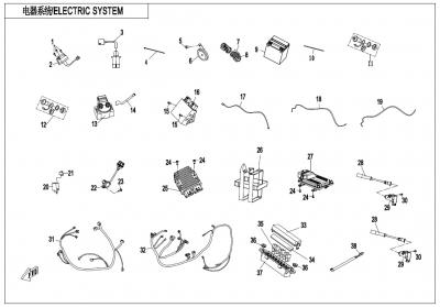 NÁHRADNÉ DIELY CF MOTO X1000 - Elektrický systém (bez EPS)