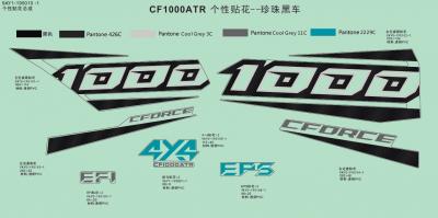 NÁHRADNÉ DIELY CF MOTO X1000 - Logo samolepky (čierna)