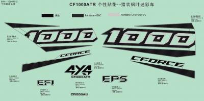 NÁHRADNÉ DIELY CF MOTO X1000 - Logo samolepky (camo)