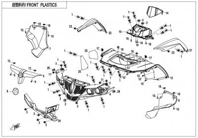 NÁHRADNÉ DIELY CF MOTO X600 - Predné plasty